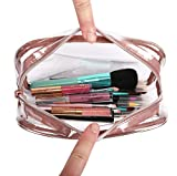 MILASIA Bolsa de cosméticos de PVC de Tres Piezas Inodoro de Viaje portátil y Simple Bolsa de cosméticos Impermeable pequeña y Transparente