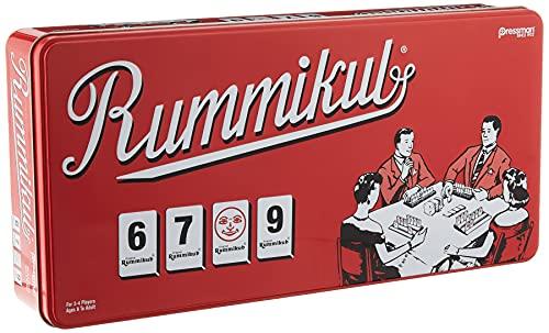 "Rummikub in Retro Tin - The Original Rummy Tile Game by Pressman Red, 5"""