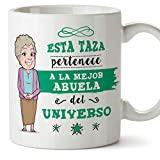 MUGFFINS Taza Abuela - Esta Taza Pertenece a la Mejor Abuela del Universo - Taza Desayuno/Idea Regalo Original/Día de la...