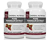Forskolin Extract for Weight Loss, 250mg Two 90 Count Bottles, 20% Extract of Pure Coleus Forskohlii, Ideal Diet and Athletes Formula, Promotes Lean Body Mass, US MFD, Free Shipping