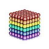 YOIKO マグネットボール 立体パズル 直径5mm 216個セット 教育工具 DIY工具 脳開発おもちゃ(六色)