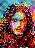 AOlsyh Game of Thrones Nuevo Juego de Pintura por número Lienzo de Lino Decoración del hogar Digital Hermosa Vida. 40x50cm Sin Marco