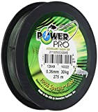 Power Pro Super Line - Lenza da pesca intrecciata da 275 m, 0,08 mm, 4 kg, colore: Verde muschio