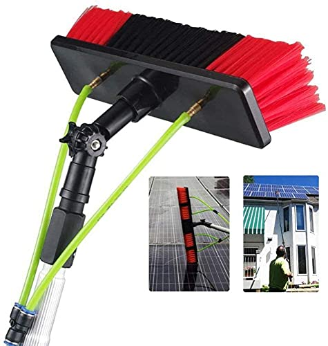 HAOJON 30cmBrush Head Window Clean Photovoltaic and Solar Panels, Window Cleaning Brush Equipment,Photovoltaic Panel Cleaning, Trucks Water Brush,5-12m / 12m/39.37ft