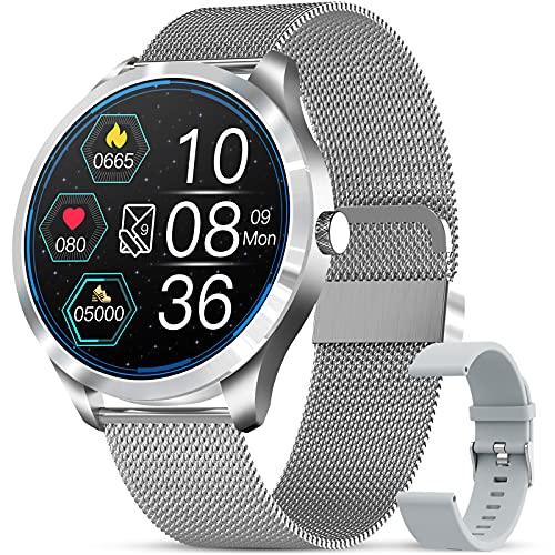GOKOO Smartwatch Uomo,Orologio Fitness Uomo, Con Monitoraggio della Pressione Sanguigna e Doppio Sistema Operativo Smart Watch Bluetooth Digitale Orologio Impermeabile IP67 Sportivo Activity Tracker
