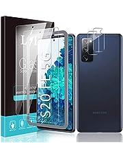 LK 4 stuks gehard glas compatibel met Samsung Galaxy S20 FE/Fan Edition 5G - 2 stuks displaybeschermfolie + 2 stuks achtercamera - 9H hardheidsgraad