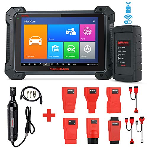 Autel MaxiCOM MK908 Wireless Diagnostic Scan Tool with ECU Coding, Bi-Directional Control, Active Tests, IMMO Keys, All Systems OE-Level Diagnosis, Oil Reset, EPB, SAS, DPF, ABS Bleeding, MV108 Add-On