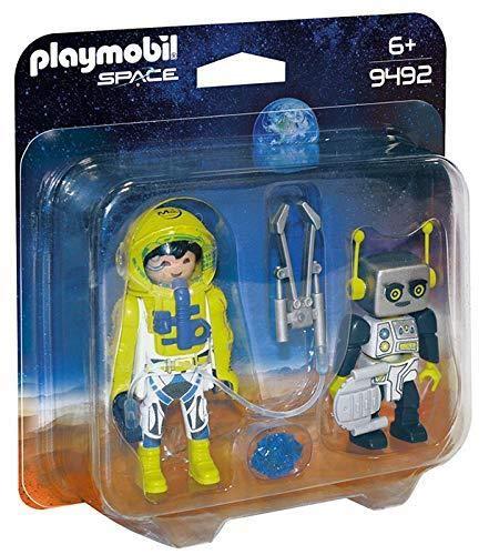 Playmobil- Duo Pack Astronauta y Robot Juguete, Multicolor (geobra Brandstätter 9492)