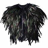 homedecoam Echtes Natürliches Feder Umhang Handgearbeitet Federn Weste Cape Stola Schal Wrap