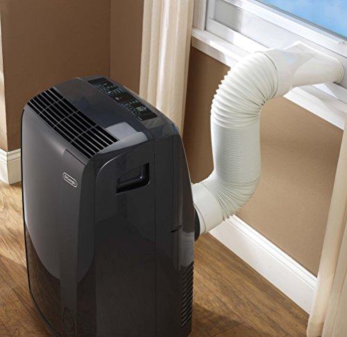 De'Longhi PACN285GN 3-in-1 Portable Air Conditioner, Dehumidifier & Fan + Remote Control & Wheels, 600 sq ft, Large Room, 8500 (DOE) / 14000 BTU (ASHRAE), Dark Gray