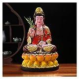 Estatua de Buda Resina Guan Yin Estatua Decoración para el hogar Mejor Feng Shui Regalos Atractivo y sereno Buda Adornos de estatua Vale la pena recolectar Decoración de meditación ( Size : Medium )