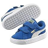 Puma Unisex-Kinder Suede 2 Straps Inf Sneaker, Blau, 24 EU