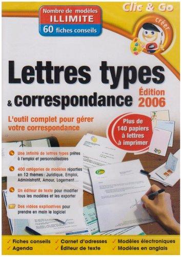 Lettres types et correspondance 2006