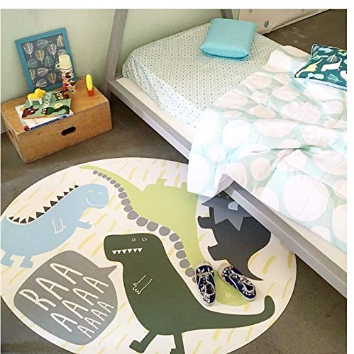 Tappeto Da Cartone Animato Per Bambini, Tappeto Rotondo Da Cartone Animato Dinosauro, Tappeto Da Cameretta, Tappeto Decorativo Da Salotto, Tappeto Moderno 150X150Cm