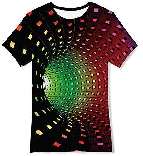 FanientMaglietta Grafica Divertente per Bambini Unisex Swirl 3D Print T-Shirt Casual