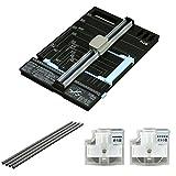 プラス 裁断機 ハンブンコ A4 + カッターマット + 替刃 (折り目 & ミシン目) セット
