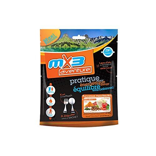 MX3Adventure Mahlzeit, gefriergetrocknet, Rindergulasch und Reis