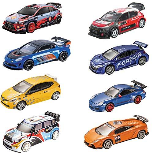 Mondo Motors - Racing Collection Macchinine Giocattolo Regalo per Bambini - Età 3,4,5,6 Anni - Scala 1:43 - Repliche auto racing Lamborghini, Porsche, Renault, Citroen - 53166