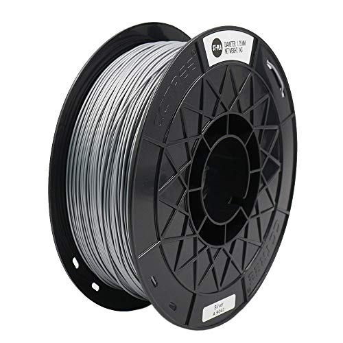 CCTREE 1.75mm ST-PLA (PLA+) 3D Printer Filament Accuracy +/- 0.03 mm 1kg Spool (2.2lbs) for Creality Ender 3/Ender 3 Pro,CR-10S/CR-10S Pro, Silver