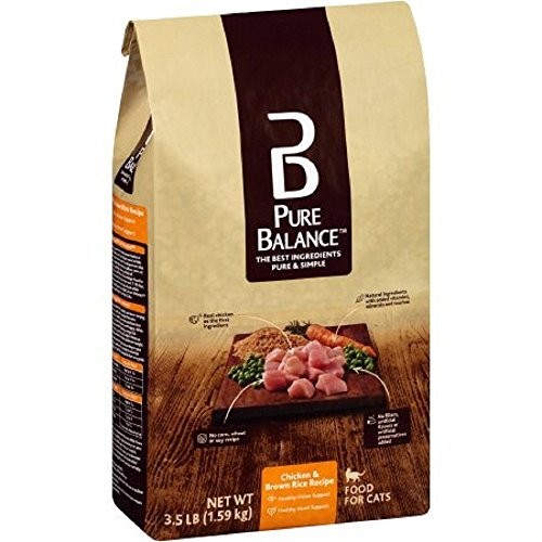 Pure Balance Chicken & Brown Rice Recipe Cat Food, 3.5 lbs