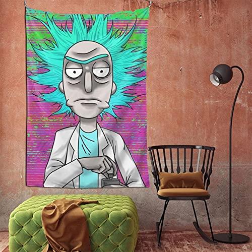 Cartoon Cartoon Rick Morty Tapestry Wall Hanging Home Decor TV Backdrop Living Room Bedroom Dorm Bedding Tapestry 60 X 90 In
