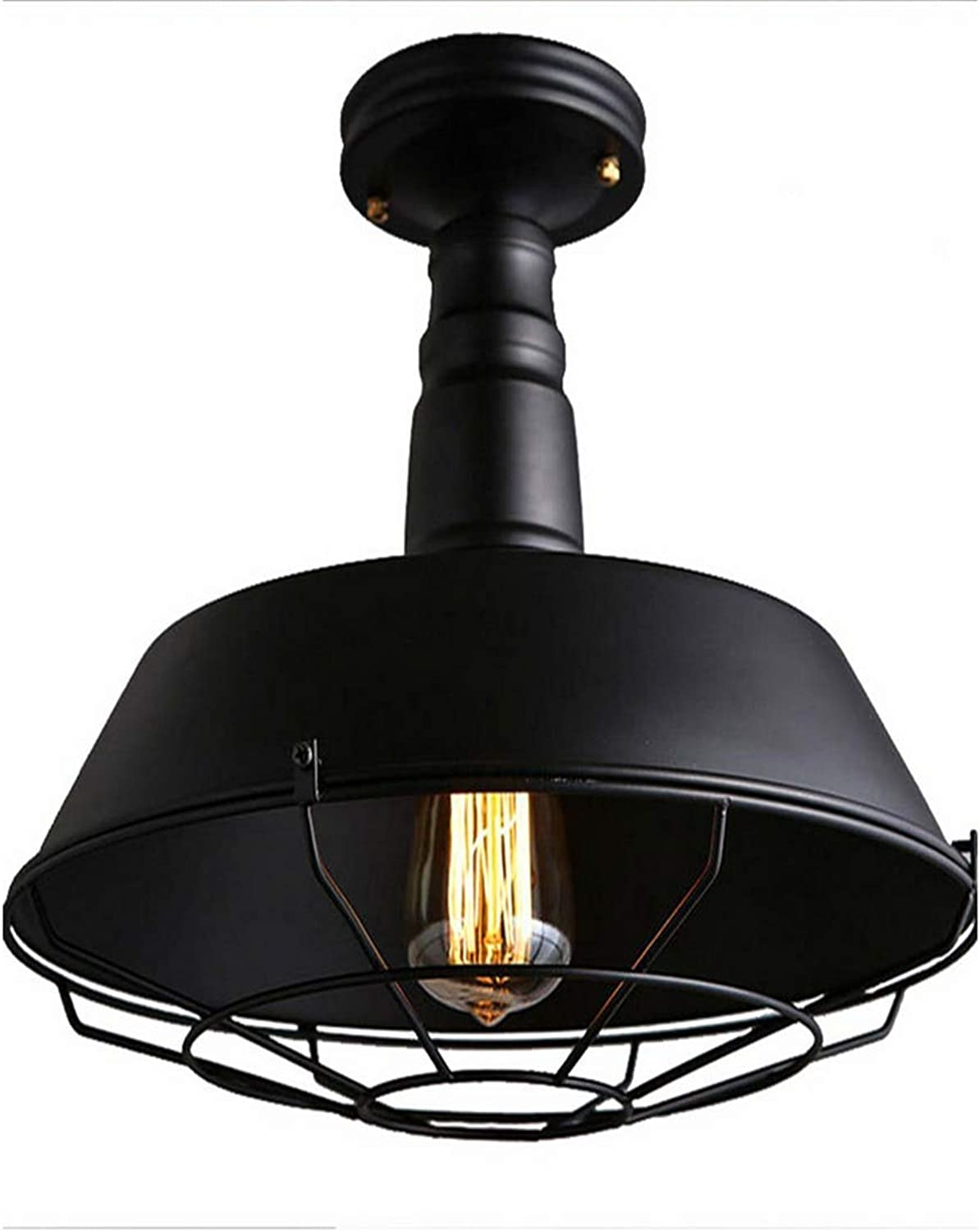 Lichtvintage Industrial Metal Ceiling Light,Simple Art Iron Matt E27 Decor Ceiling Lamp With Flush Mount For Living Room Dining Room