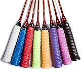 Ritte 8 Stück Griffbänder Tennis Badminton Schläger Mehrfarbig Overgrip für Anti-Rutsch-und saugfähigen Griff Für Squash Racketball Schläger und Angelrute