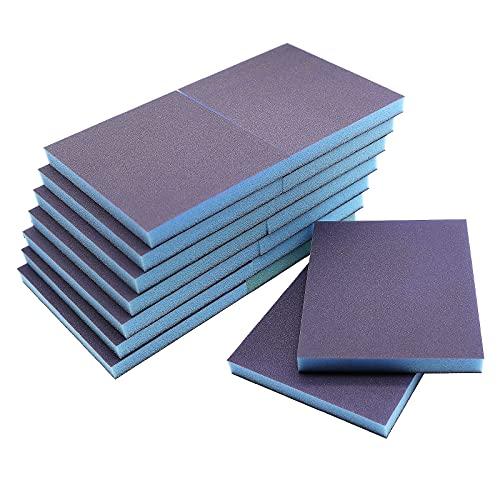 16Pcs Sanding Sponge Grit, 800-1000 Grit Washable and Reusable Sanding Blocks,Sand Sponge for Wood, Metal, Furniture,Paint and Drywall