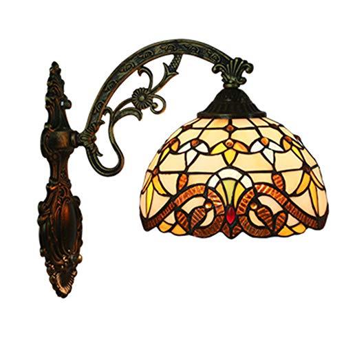 MTTK Vintage Style Tiffany Mur Lampe Baroque conçu Verre Mur lumière intérieur éclairage 20 * 36CM