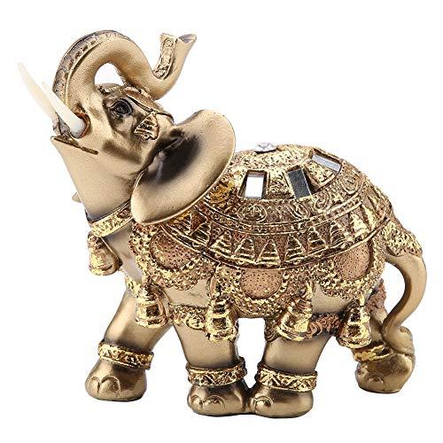Hztyyier Elefanten Figuren, Feng Shui Elefanten Statue Dekor Harz Elefanten Figuren für Reichtum Glück Figur Wohnkultur Geschenk(Large)