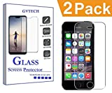 GVTECH Screen Protector for Apple iPhone 5 5S 5G, Tempered Glass Screen Protector[0.3mm, 2.5D][Bubble-Free][9H Hardness][Easy Installation][HD Clear] for Apple iPhone 5 5S 5G(2 Pack)