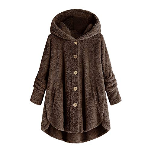 Holatee Sudadera Mujer con Capucha Talla Grande Abrigo Mujer Invierno Frio de...