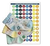Haberdashery Online 60 Etiquetas para emparejar Calcetines - Emparejadores termoadhesivos (Junior 1)