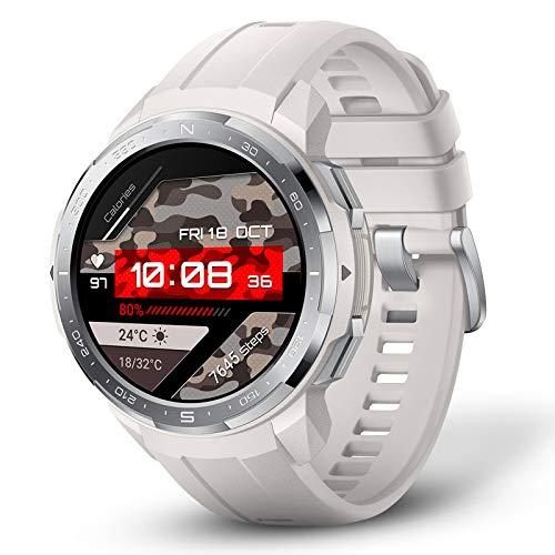 HONOR Watch GS Pro Smartwatch Hombre Reloj Inteligente con GPS 100+ Modos Deportivos 25 Días Batería 14 Certificados Militares, Llamada Bluetooth Monitor de Frecuencia Cardíaca Sueño SpO2 Blanco