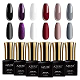 Azure Beauty Classic Gel Nail Polish Set, Elegant Colors Soak off UV LED Gel Polish, Birthday Anniversary Christmas Present for Wife, Aunt, Nana, Daughter