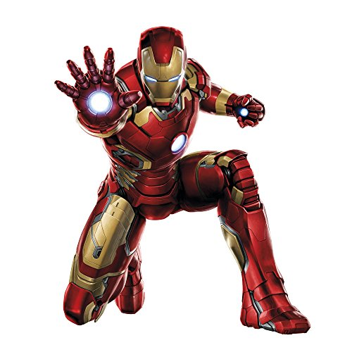 Customise4U Ironman Marvel Avengers Kinder Wandaufkleber Wandüber Wall Art Wand Tattoo (Ironman Kneeling 70cm)