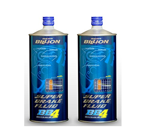 BILLION ビリオン スーパーブレーキフルード BB4 ドライ沸点296℃ 安定した効きと剛性感あるペダルタッチ ストリートからミニサーキットまで オールシーズン使用可能 1L×2本セット BBF-03-2P