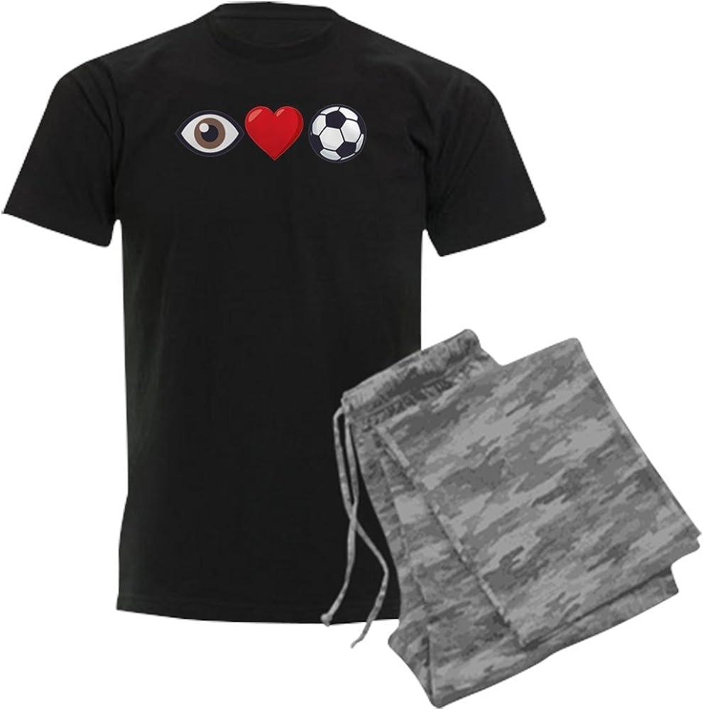 CafePress I Heart Soccer Emoji Pajama Set Latest shipfree item