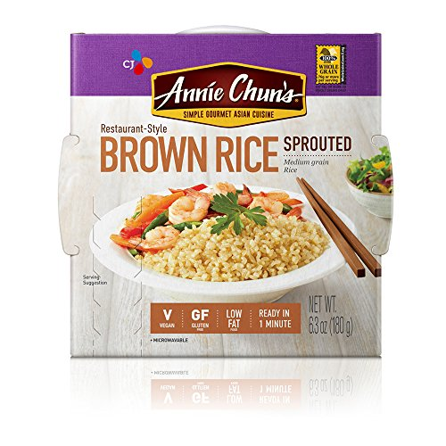 Annie Chun#039s Rice Express Sprouted Brown Sticky Rice 63 Ounce Pack of 6