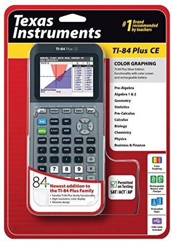 Texas Instruments TI-84 Plus CE - Calcolatore di grafite in argento