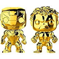 Funko POP! Marvel Gold Chrome Bundle - Iron Man and Hulk
