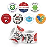 More Styles & Quantities: 2 Rolls of vaccine stickers, a roll of 500 pieces vaccine stickers, including 7 different styles. The package includes extra sticker as a gift. Bright Colors & Unique Patterns Design: You can show people by these stickers th...