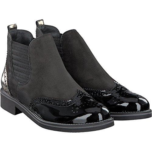 Paul Green 8012-048 Budapester Chelsea-Boots, goldene Lyralochung hinten