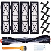 1つのメインブラシ4側ブラシを含むNeato BotvacシリーズDシリーズと互換性のある交換部品キット4高効率フィルター掃除機掃除機パーツ/アクセサリー 交換部品