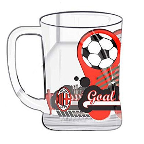 Boccale birra in Vetro A.C. Milan calcio Bicchiere *02796