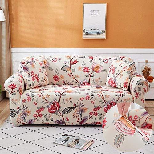 Funda de sofá elástica con Estampado de patrón de 2 3 4 plazas, para Protector de Muebles de Sala de Estar para