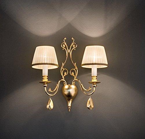 Masiero Appliques Murales Belle Epoke Or 24 carats Feuille d'or Fait à la main,Fabriqué en
