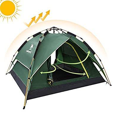 Camel Fourth-generation Automatic Hydraulic Tent for 2-3 Person Outdoor Waterproof Camping (Green)