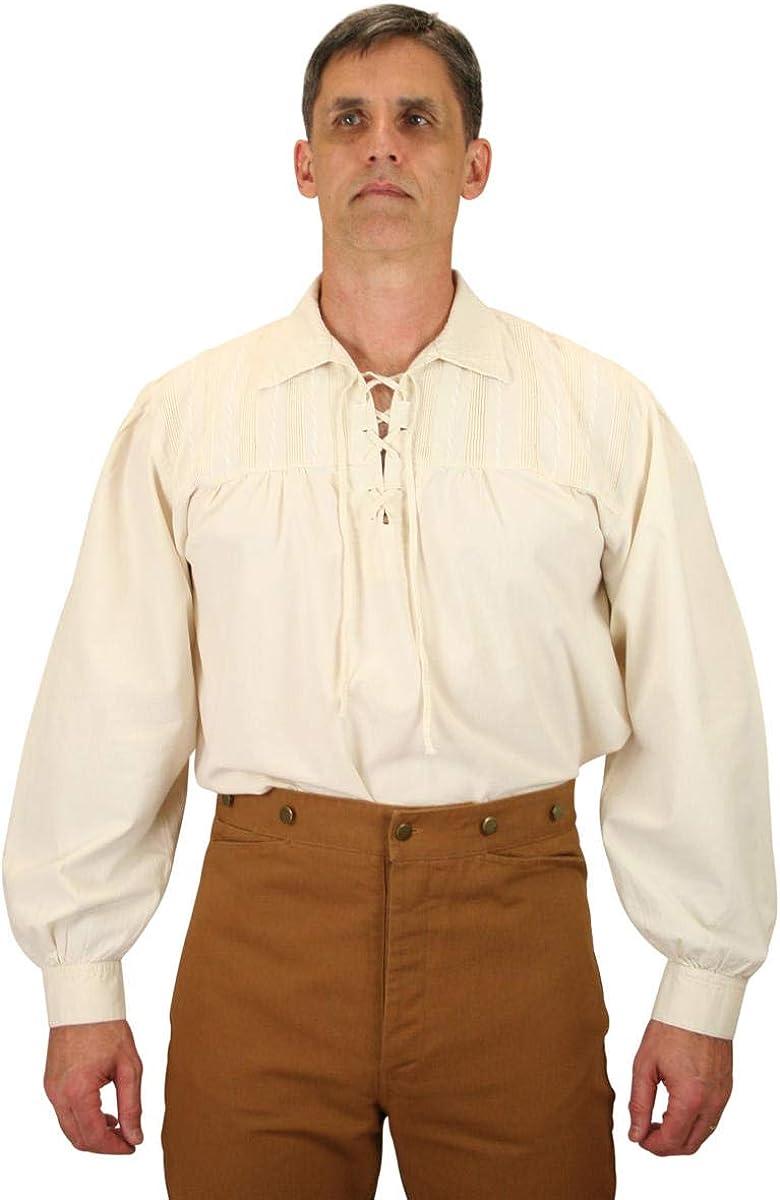 Historical Emporium Men's Frontiersman Cotton Work Shirt