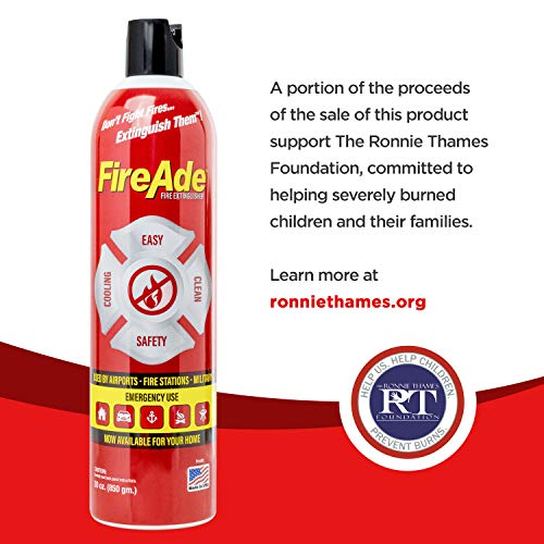 FireAde Fluorine Free Aerosol Can portable fire extinguishers for campers boats camping kitchen garage rv